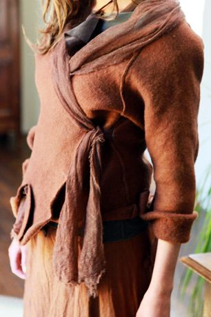 great shawl detail and cross over fastening