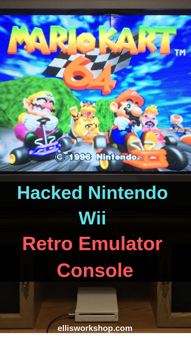 My 0 Retro Game Console Modified Nintendo Wii The