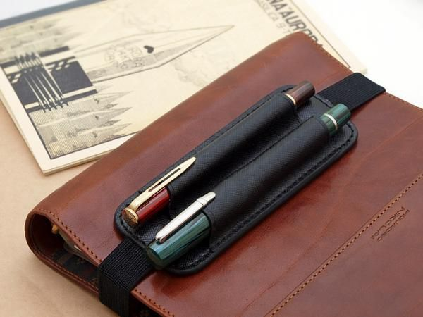 Rakuten Portable Leather Pen Holder Book Band 2 Push The