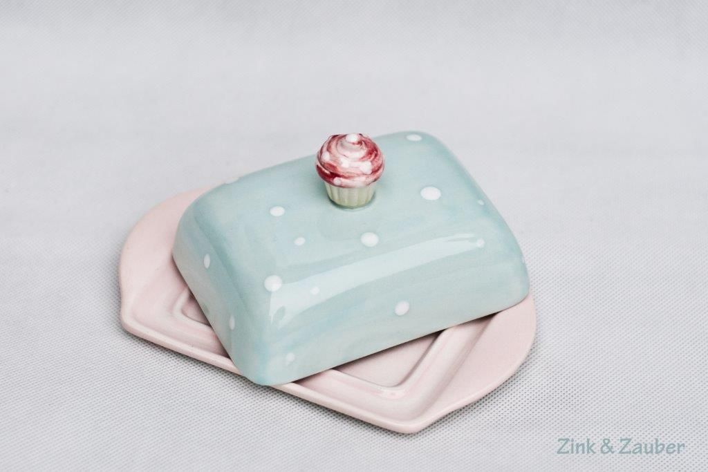 zauberhafte Butterdose- handbemalt #potterypaintingdesigns