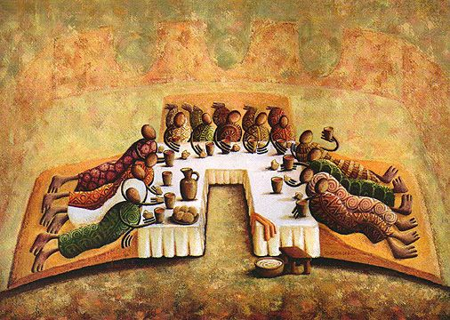 Last Supper Picture Reclining A More Accurate Picture Of