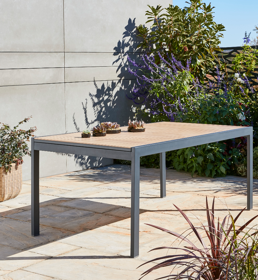 Table De Jardin Aluminium Rectangulaire Blooma Morlaix 180270 X 100