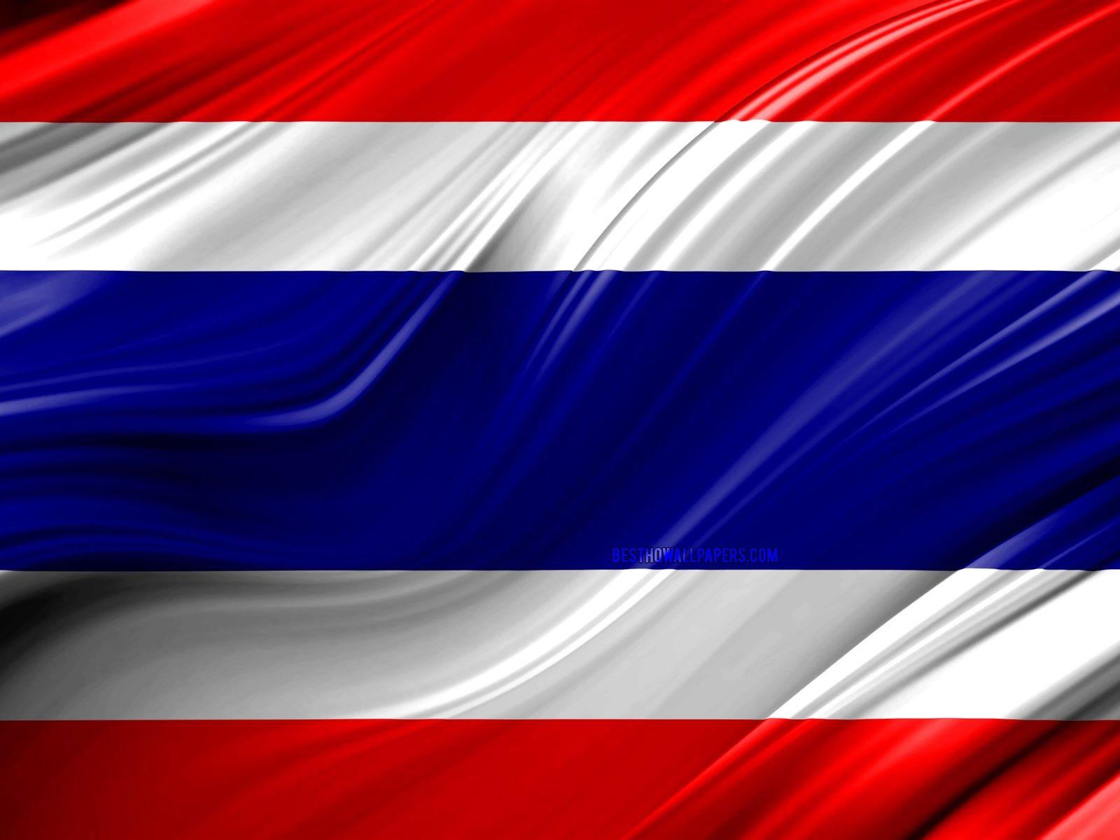 4k Thai Flag Asian Countries 3d Waves Flag Of Thailand National Symbols Thailand 3d Flag Art Asia Thai Thai Flag Motorcycles Logo Design Thailand Flag