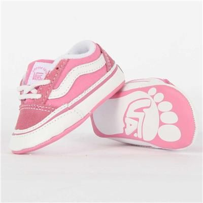 8bb6fcacc5e Vans Old Skool Baby Crib Shoes in Aurora Pink SOLID. Size 1-4 New in ...