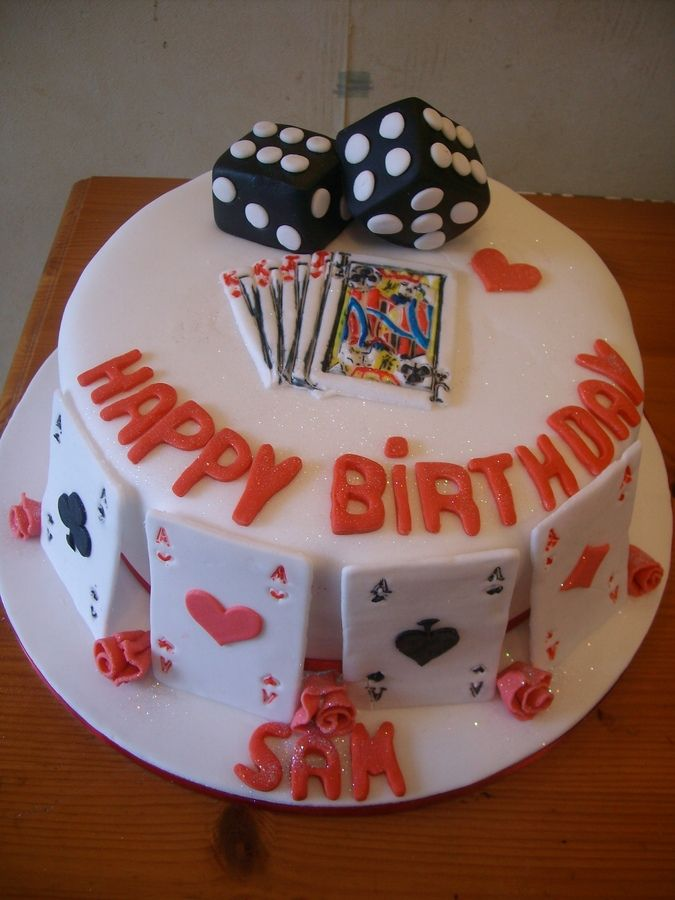Playing Card Cake Playing Cards Cake And Roses And Dice Stuff To