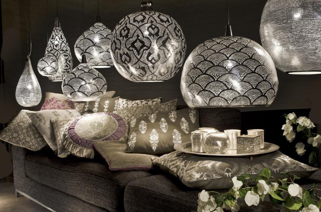 Hängelampe Loaf Fan - Orientalisch - L - Silber - Zenza   Licht ...