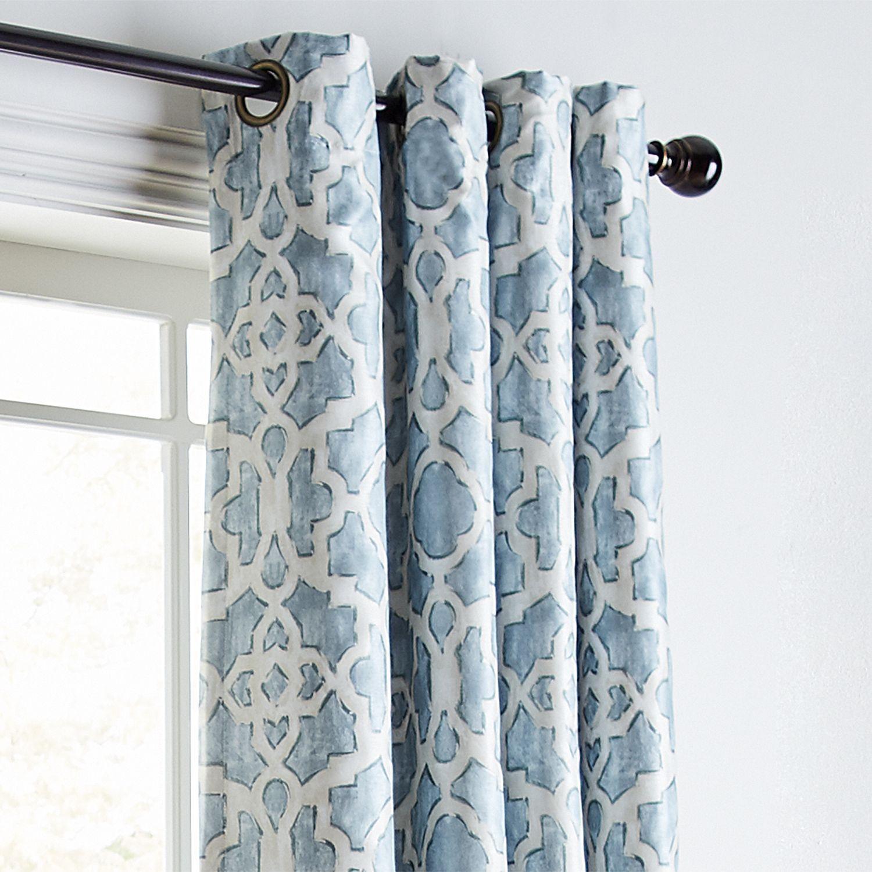 Mota blue 84 grommet blackout curtain