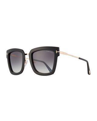 e0d58b52d5a Tom Ford Lara Acetate   Metal Square Sunglasses