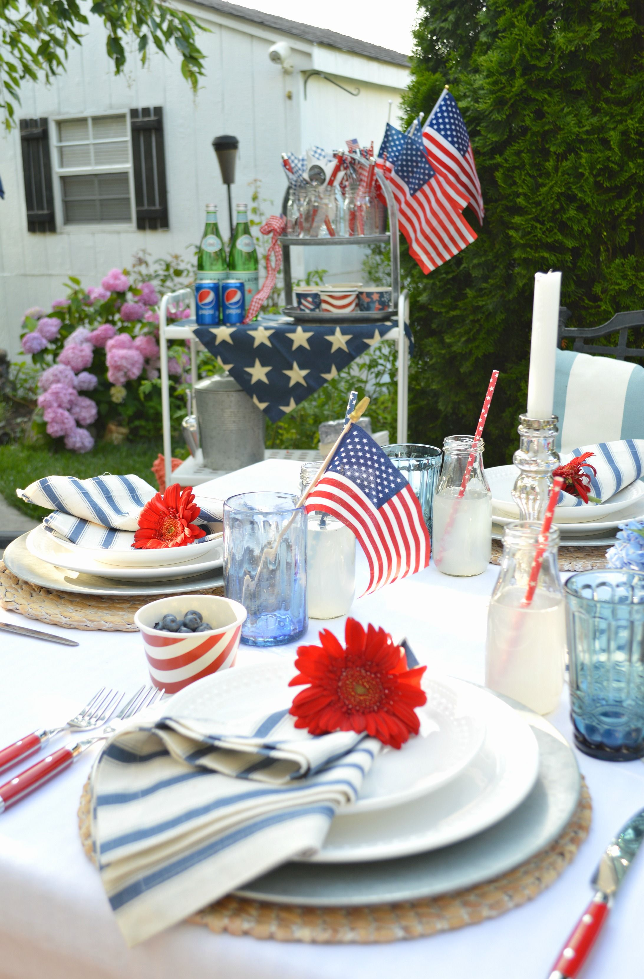 5 Easy Steps For Creating A Festive Patriotic Table Blue Table