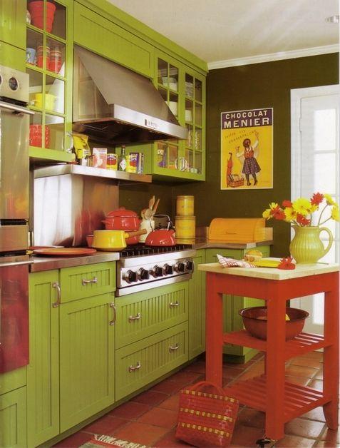 Going Green Green Kitchen Green Kitchen Decor
