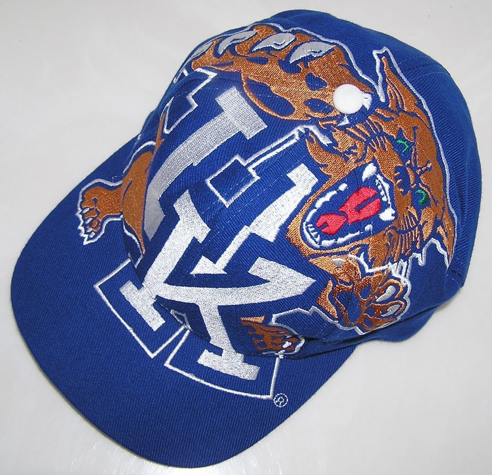 Kentucky Wildcats NCAA Basketball Vintage The Game Big Logo Snapback Hat Cap   TheGame  KentuckyWildcats f98aff66952