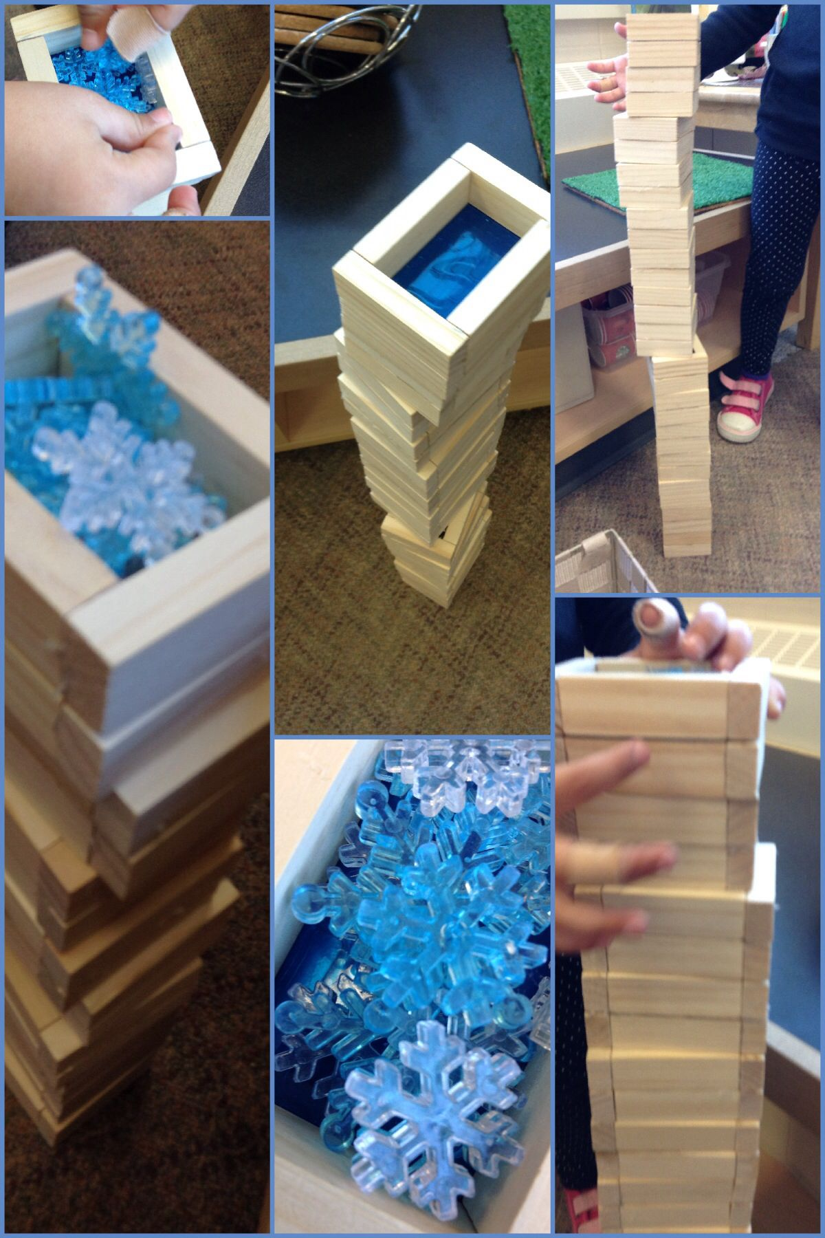 Via @ChapmanKs messing about with balance & DIY window blocks to create a hotel & rooftop pool (with snow).