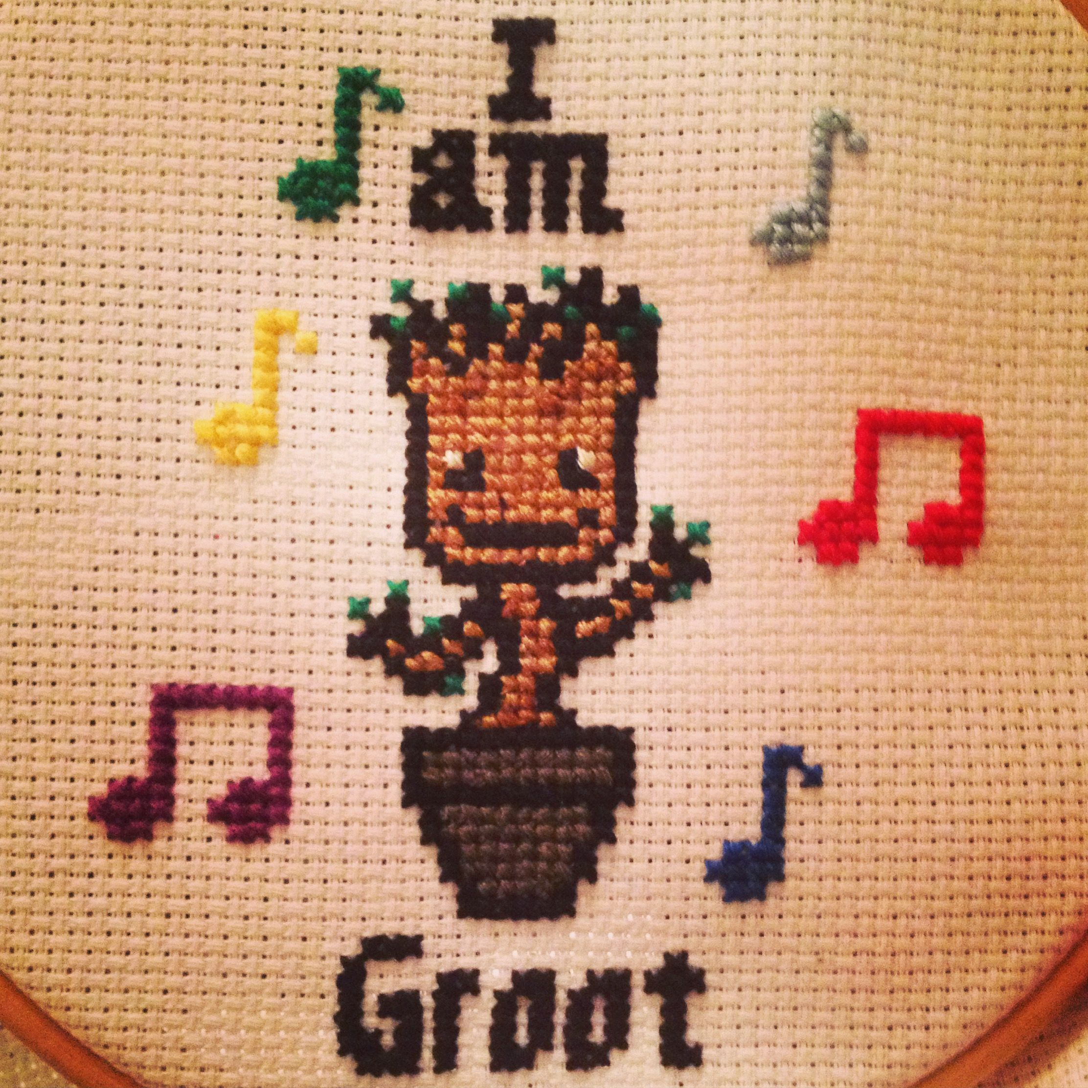 My dancing baby Groot cross stitch