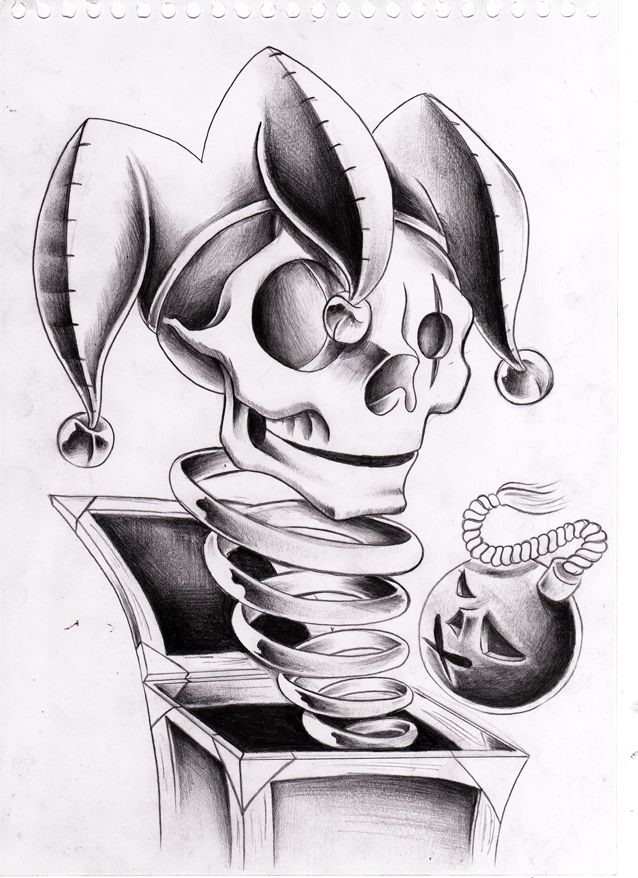 Back gt gallery for gt evil jack in the box tattoo designs