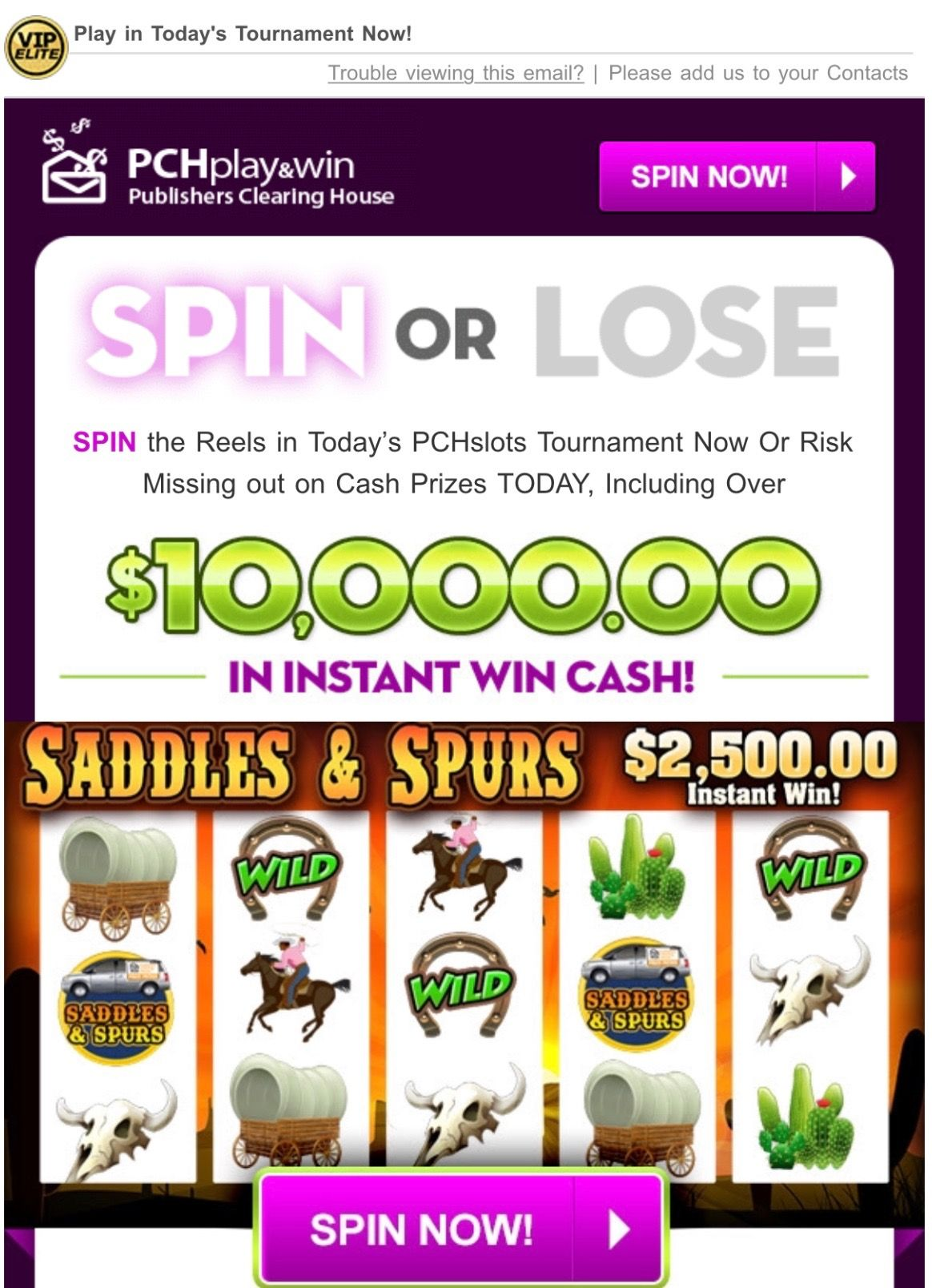PCH SLOTS TOURNAMENT NOTICE 70-07! I RRojas Claim SpinNow