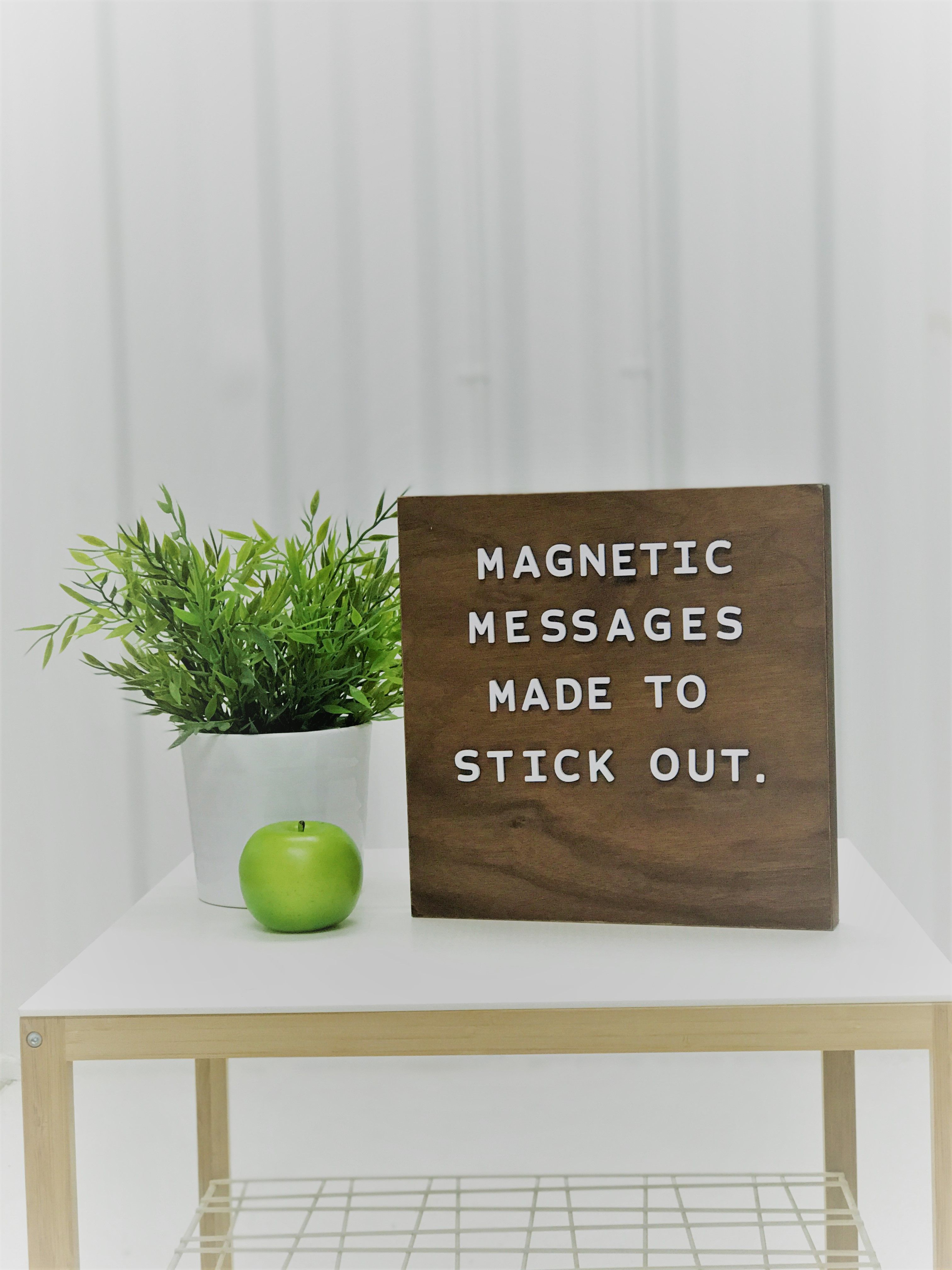 Jut Made Magnetic Letter Boards Magnetic Messages Made To Stand Out