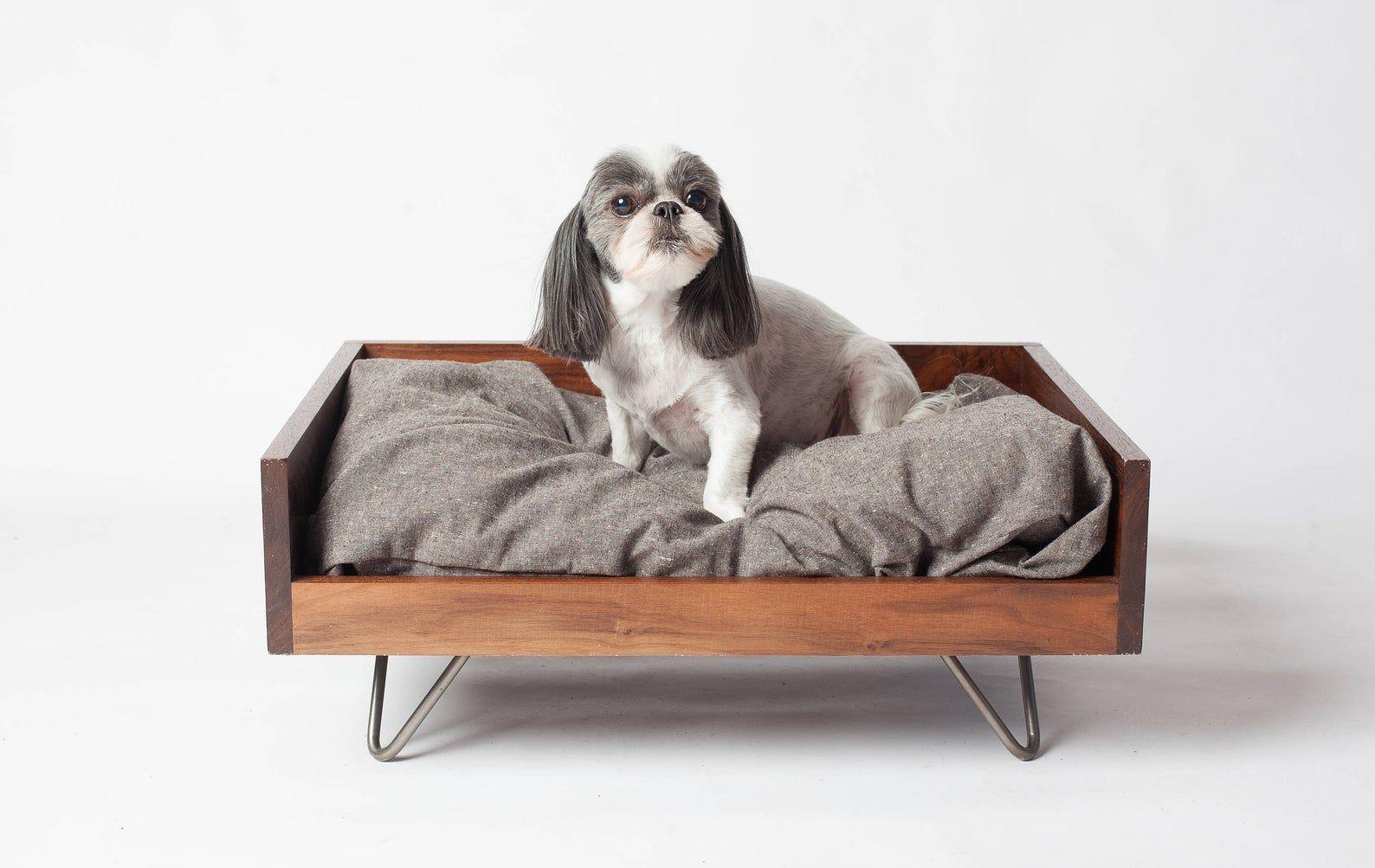 Modern Dog Bed Wood Dog Bed MidCentury Dog Bed Custom