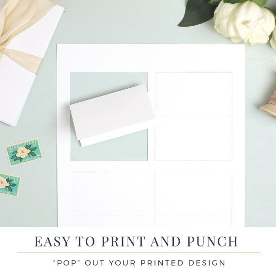 Everly Place Card Paper Cut Stock Perforated