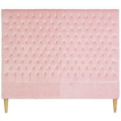 Lotus Velvet Bedhead Pale Pink Double King Single