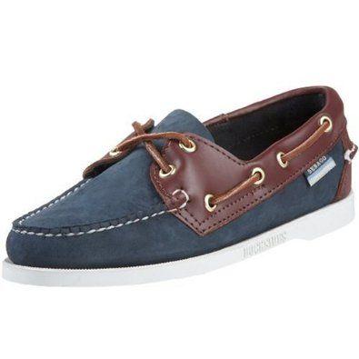 Sebago Women`s Spinnaker Boat Shoe,Blue/Brown