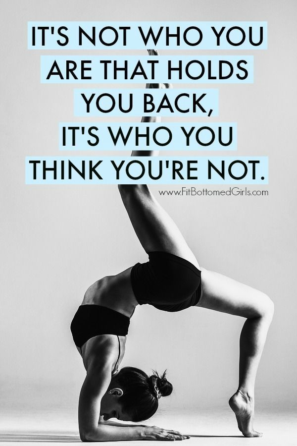 A motivational quote we love: It\'s not who you are that holds you ...