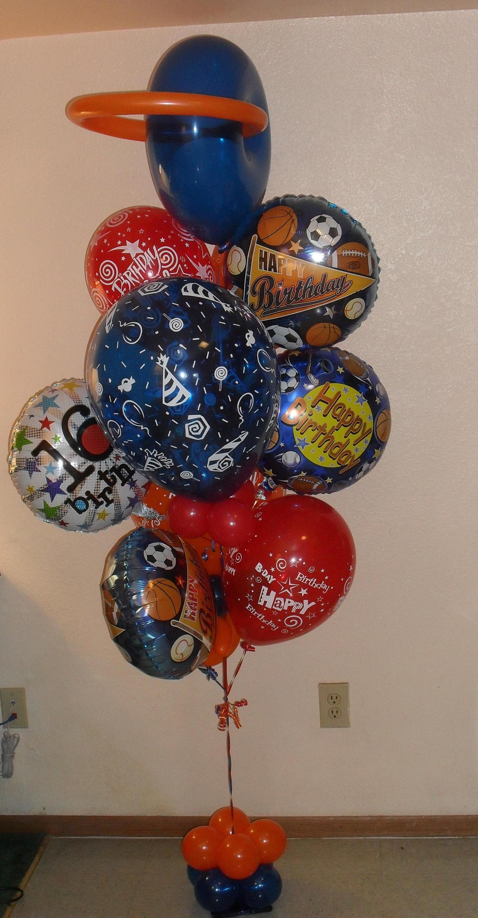 Small Happy 16th Birthday Now Being A Real Teenager Starts Balloon Bouquet Delivery Arrangement 80 Created