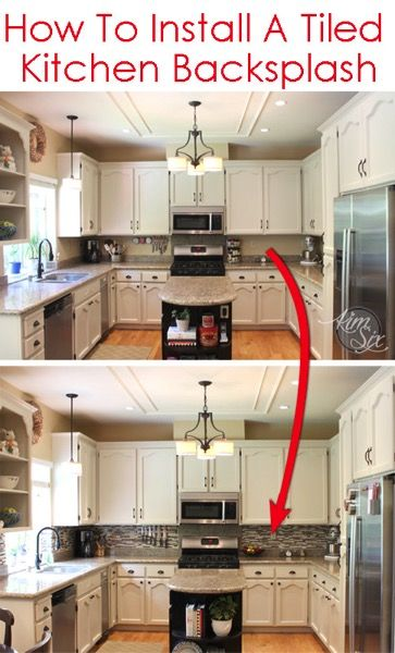 Merveilleux How To Tile A Kitchen Backsplash Using Pencil Tile. A Great Tutorial On How  To Deal With Outlets In The Wall AND She Even Breaks Down The Cost So You  Know ...