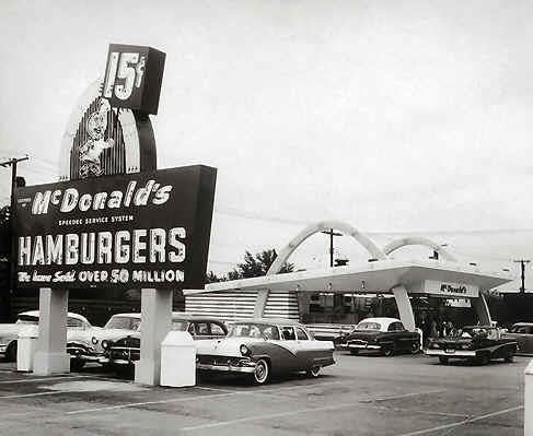 across from Eastland, Lexington's first McDonalds
