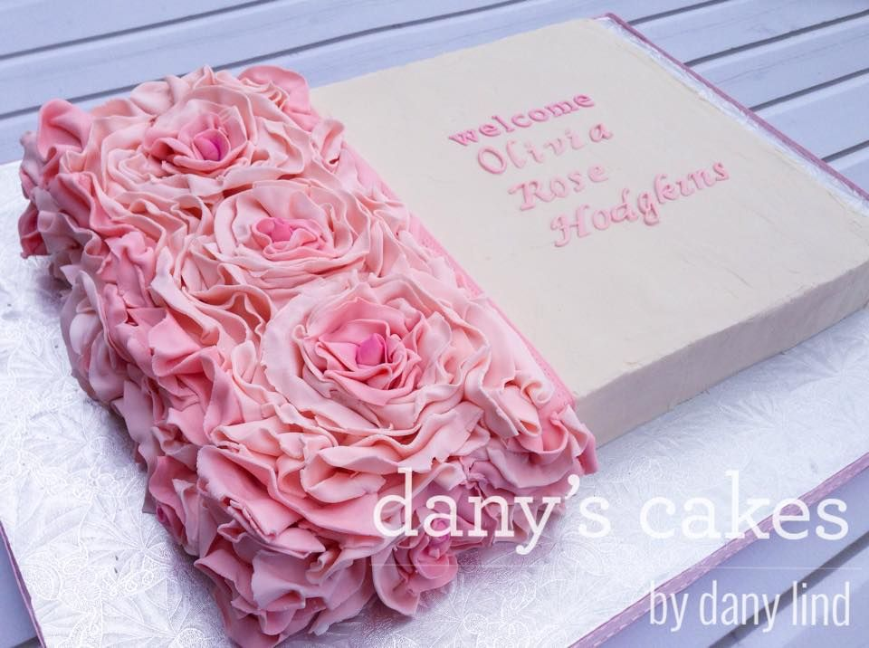 Cake Decoration Sheet : half rosette sheet cake Sheet Cakes Pinterest ...