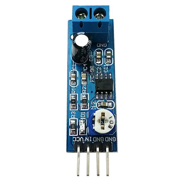 LM386 200 Times Gain Audio Power Amplifier Circuit Board Module - White + Blue . 1. Static power consumption is low, the quiescent current is about 2MA, which is suitable for battery power supply; 2. Working voltage range: 4~12V; 3. very few external components; 4. 200 times the default gain of this board; 5. Low distortion degree; 6. Plate load volume adjustment potentiometer, clockwise increase the volume; 7. Board connector block; 8. With power indicator light.. Tags: #Electrical #Tools…