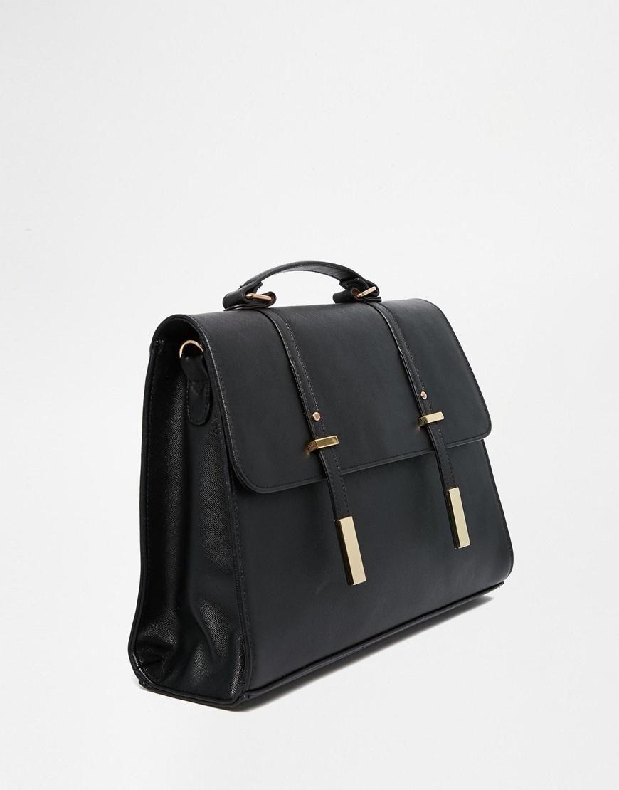 ASOS   ASOS Tab Front Satchel Bag at ASOS