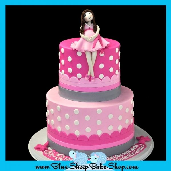 Pregnant Mommy Baby Shower Cake