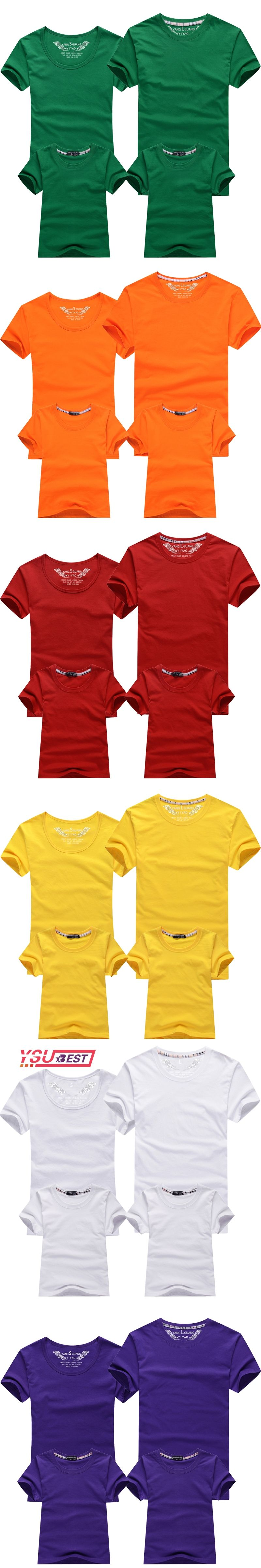 Summer Family Matching Outfits Short-sleeve Color Matching Mother ...