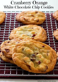 Cranberry Orange White Chocolate Chip Cookies - me