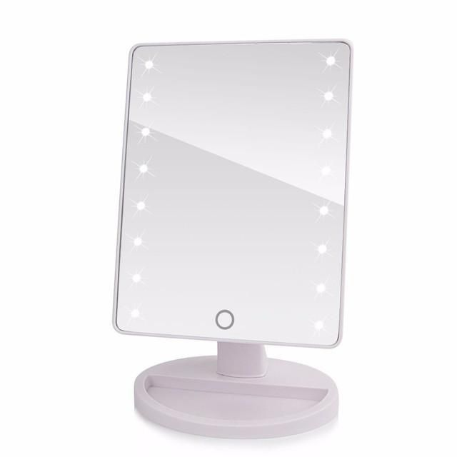 Tabletop Led Lighted Portable Vanity Mirror Natural