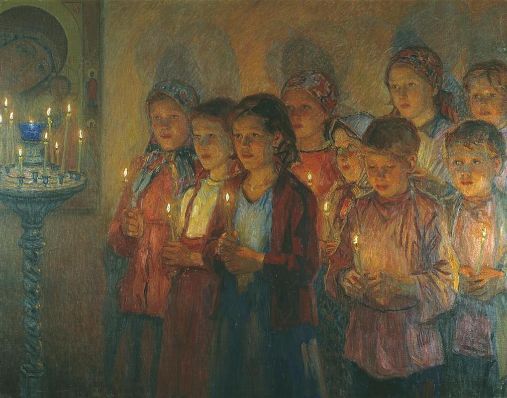 In the Church, 1939 Nikolay Bogdanov-Belsky