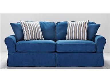 Shop For Hm Richards Denim Sofa 465753 And Other Living