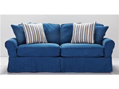 Hm Richards Living Room Denim Sofa 465753 Kittle S Furniture Indiana And Ohio Denim Sofa Denim Couch Cindy Crawford Home