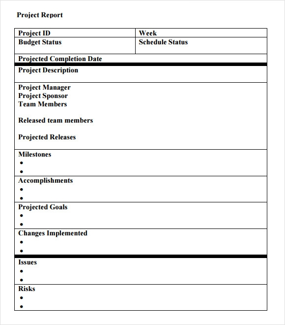 Simple Project Report Template 1 Professional Templates