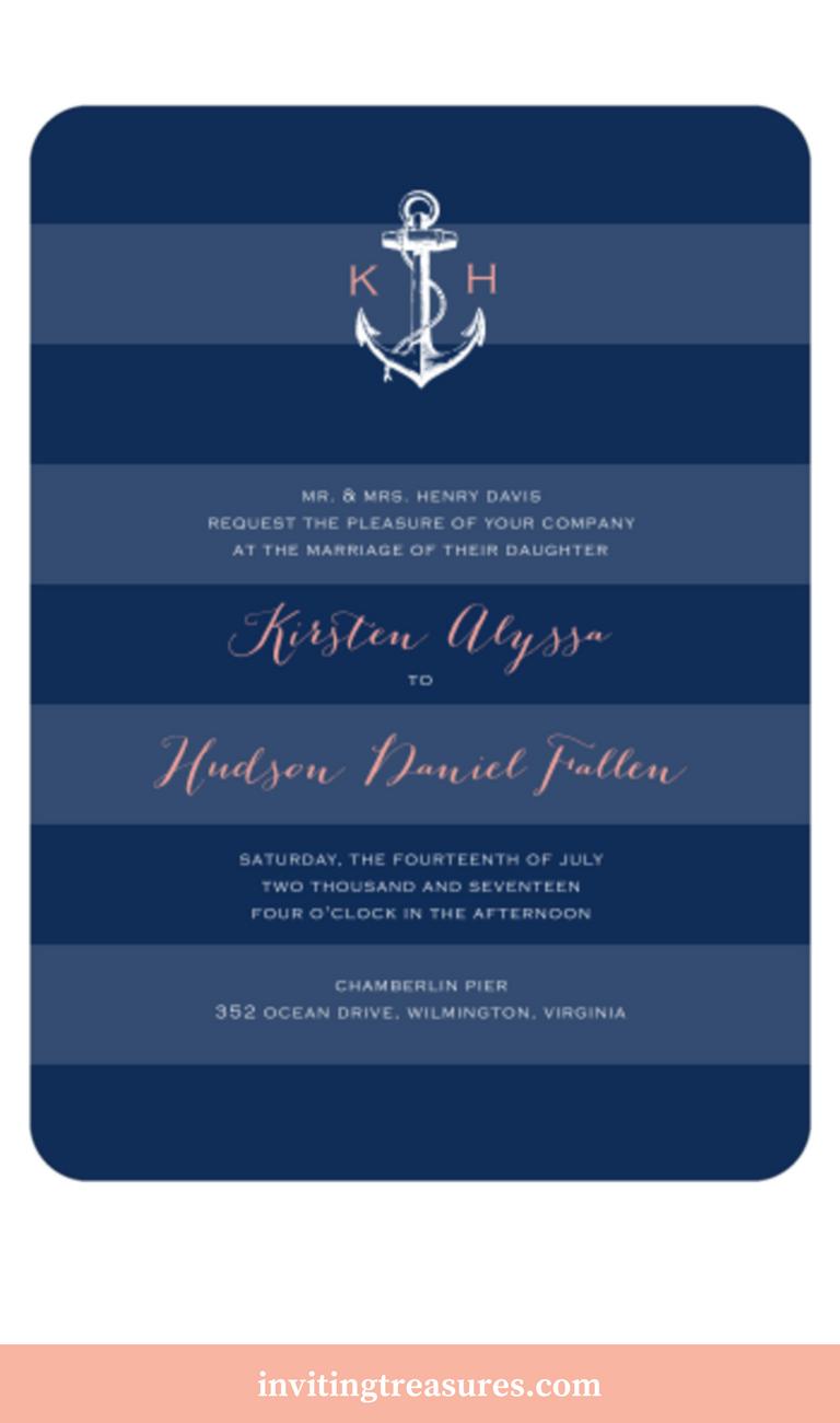 Anchored In Love Wedding Invitation Anchored In