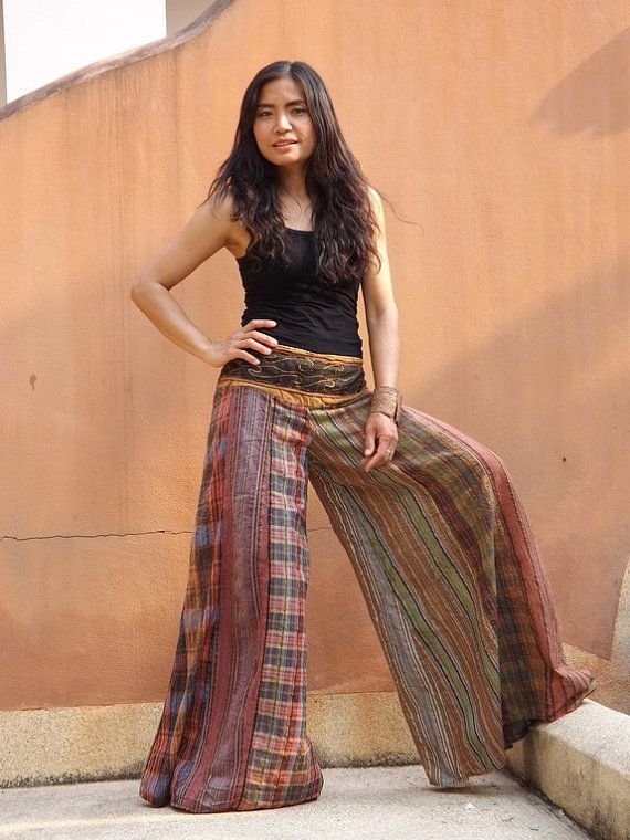 b1bab814b8757 Wide Leg Pants ...Skirt Pants ...Stone Washed Indian by Ablaa ...