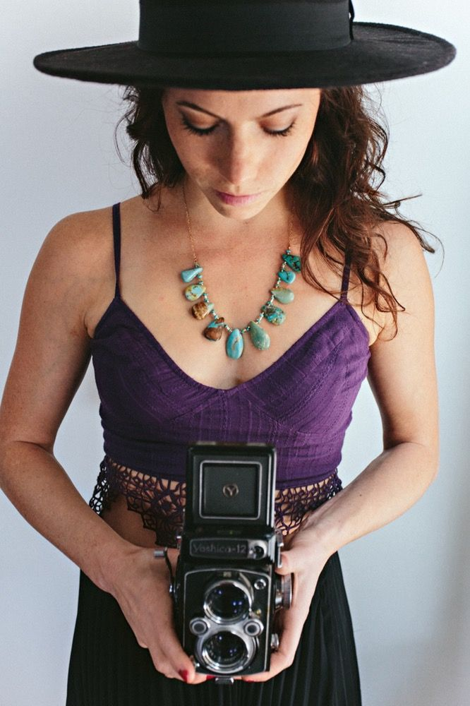 Wandering Free Turquoise necklace by Cannelita - Artisan Jewelry