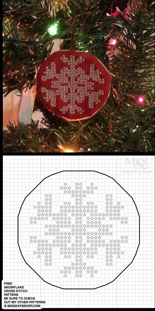 Free Christmas Snowflake Cross Stitch Pattern | Cross stitch | Pinterest