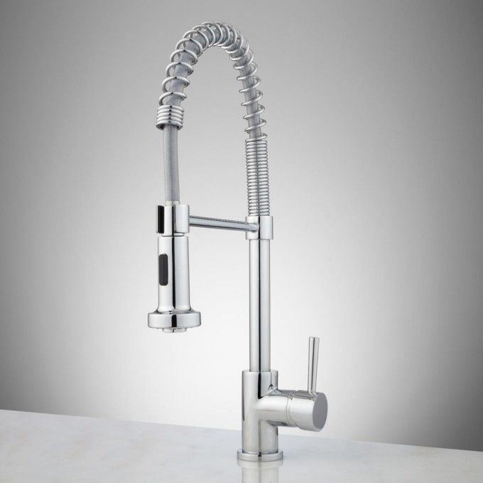 Kitchen Faucets Commercial Solid Brass Single Handle Single Lever