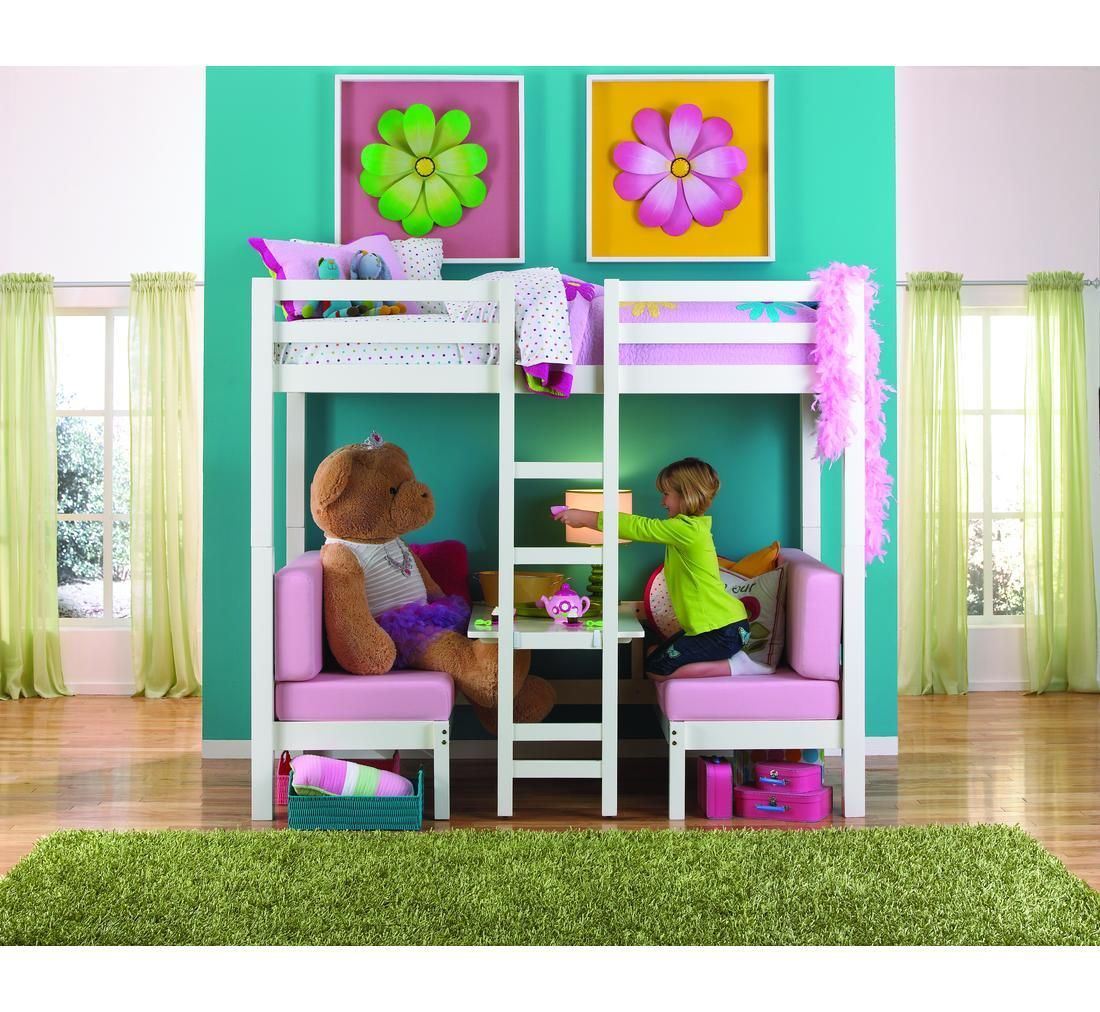 Twin loft bed craigslist  Create a fun and usable space in your childus bedroom with this