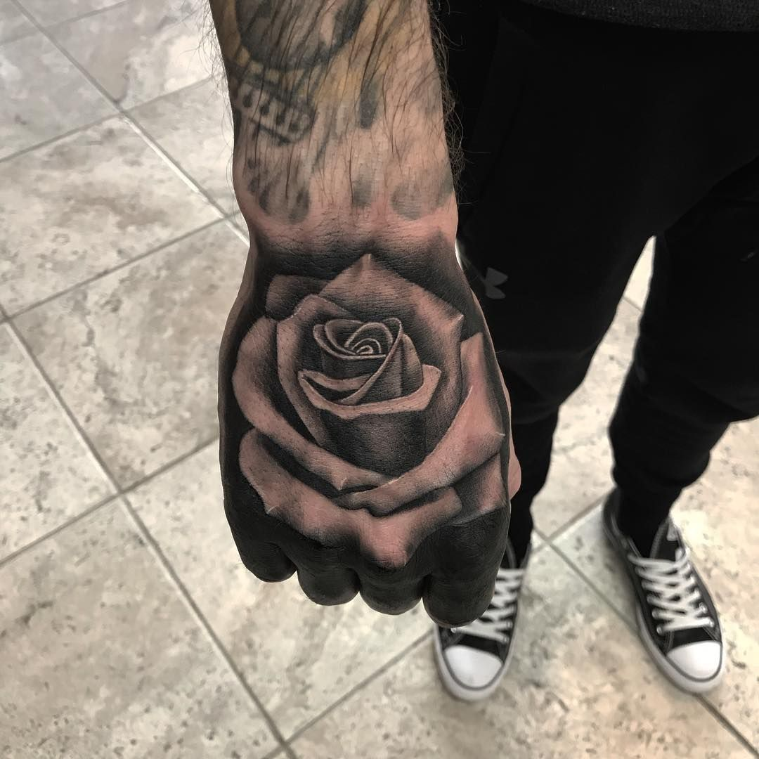 19+ Awesome Black rose tattoo on hand ideas in 2021
