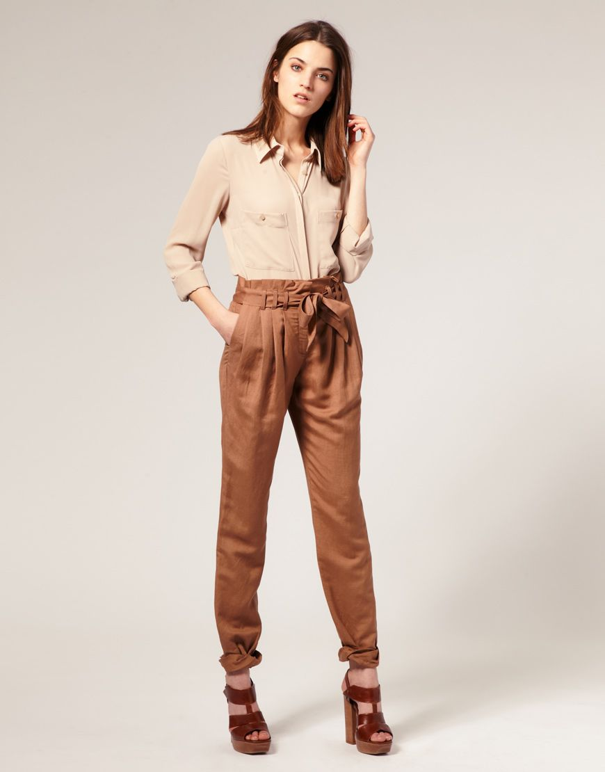 Paper bag trousers - Explore Peg Leg Trousers Warehouse And More I Want Paperbag