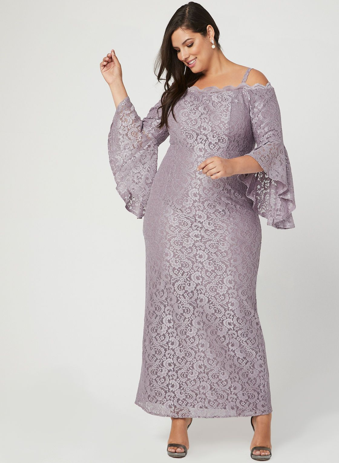 ec3dd00589b4 Glitter Lace Off The Shoulder Dress