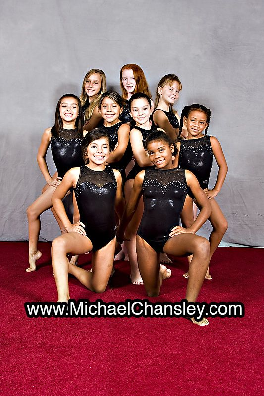 Fun Youth Group Gymnastics Sports Basketball Portrait Photo Ideas In