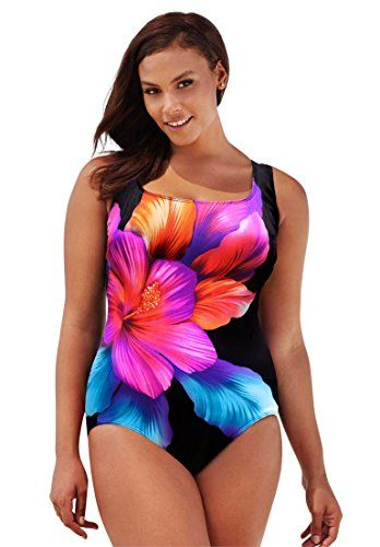 6f815cb4fb7 Jessica London Womens Plus Size Scoopneck Swimsuit Beautiful22 >>> Learn  more by visiting the image link.